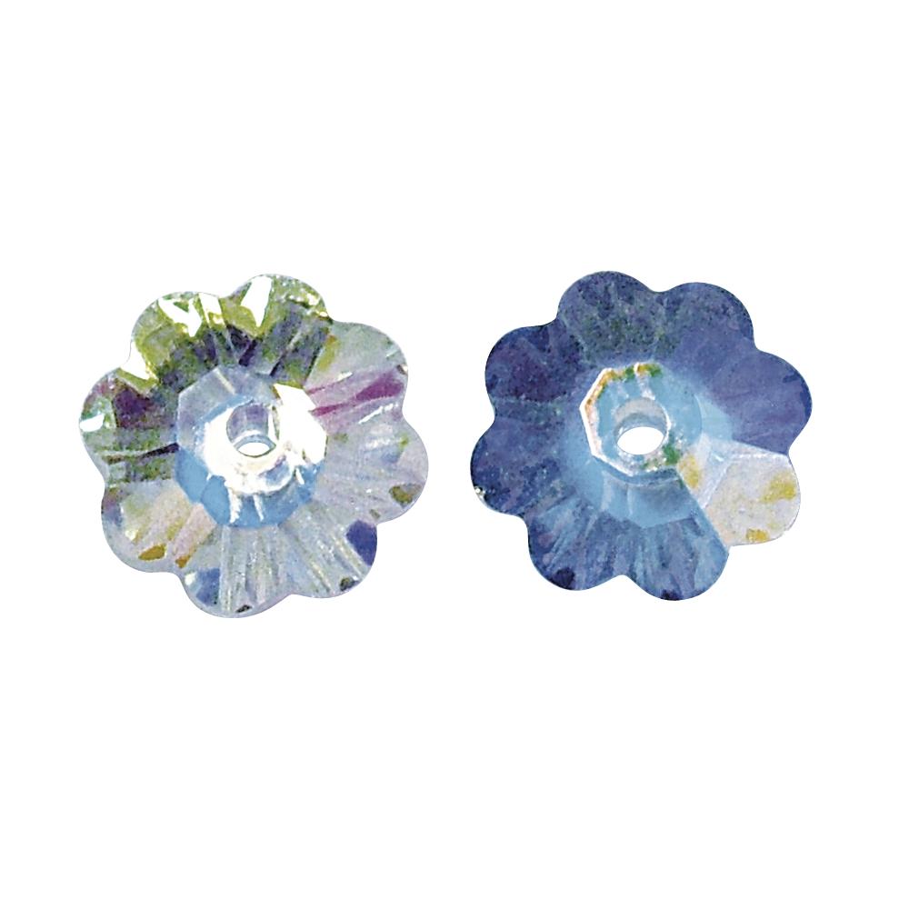 Swarovski Kristall-Blüte, 6 mm ø, Dose 20 Stück, mondstein