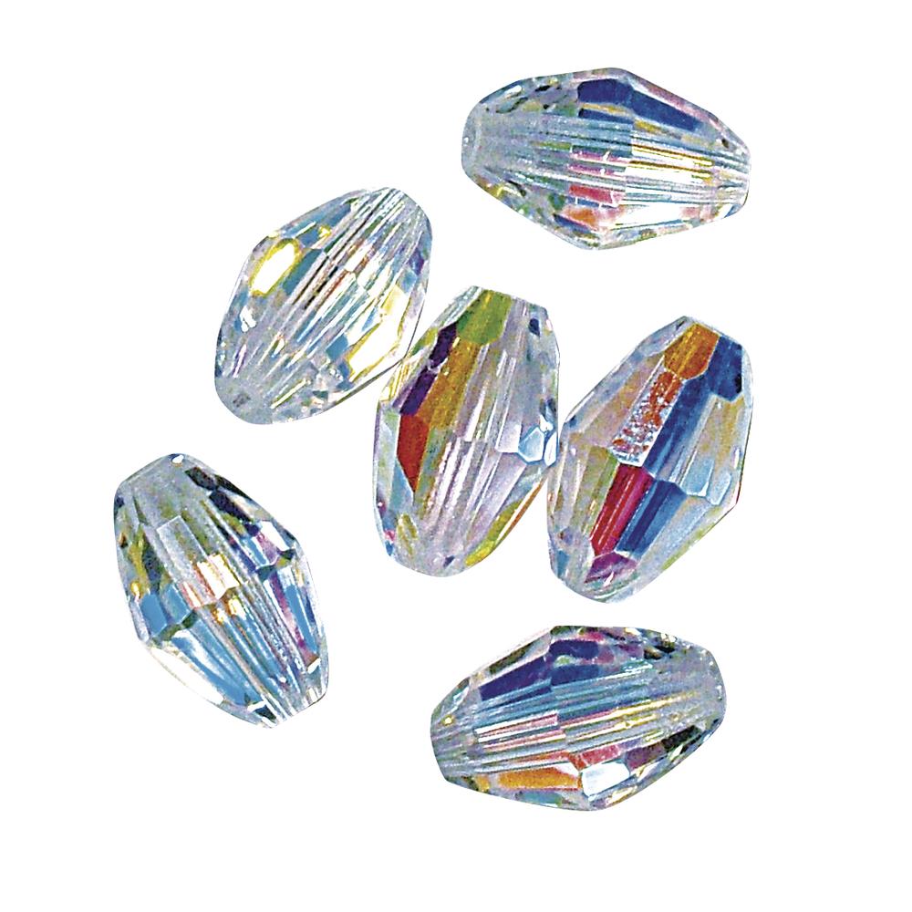 Swarovski Kristall-Olive, 7,5x5 mm, Dose 8 Stück, mondstein
