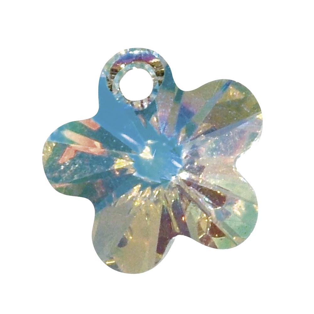 Swarovski Kristall-Blüten-Pendant, 12 mm, Dose 5 Stück