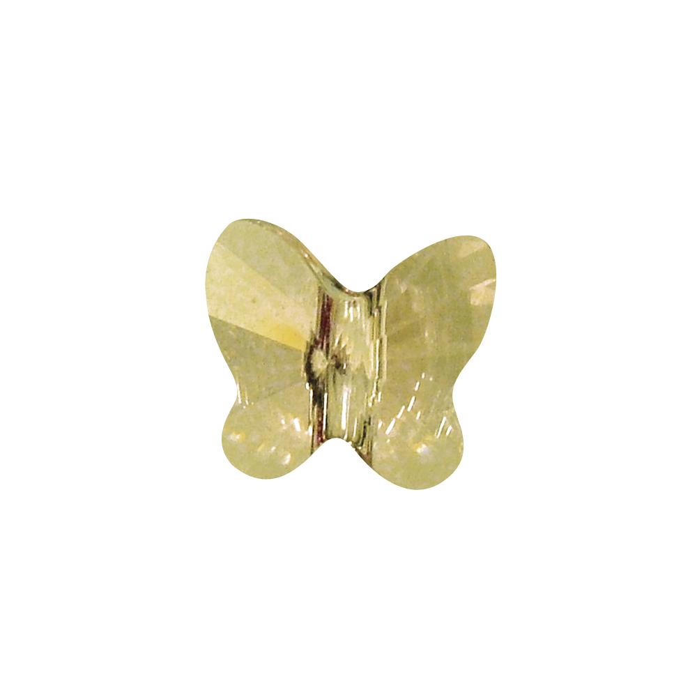 Swarovski Kristall-Schmetterling-Perle, 8 mm, Dose 7 Stück, brillantgelb