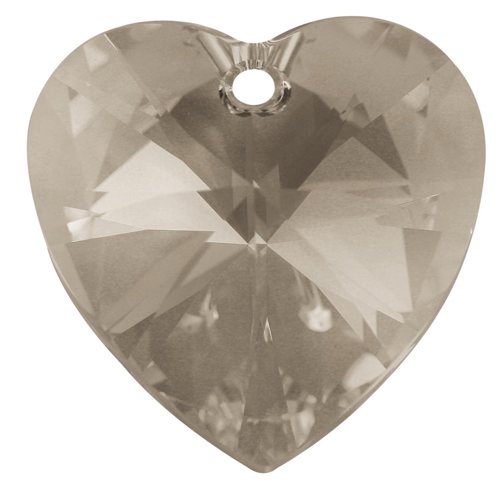 Swarovski-Kristallschliff-Anhänger, 28 mm, Dose 1 Stück ''Heart'', bergkristall