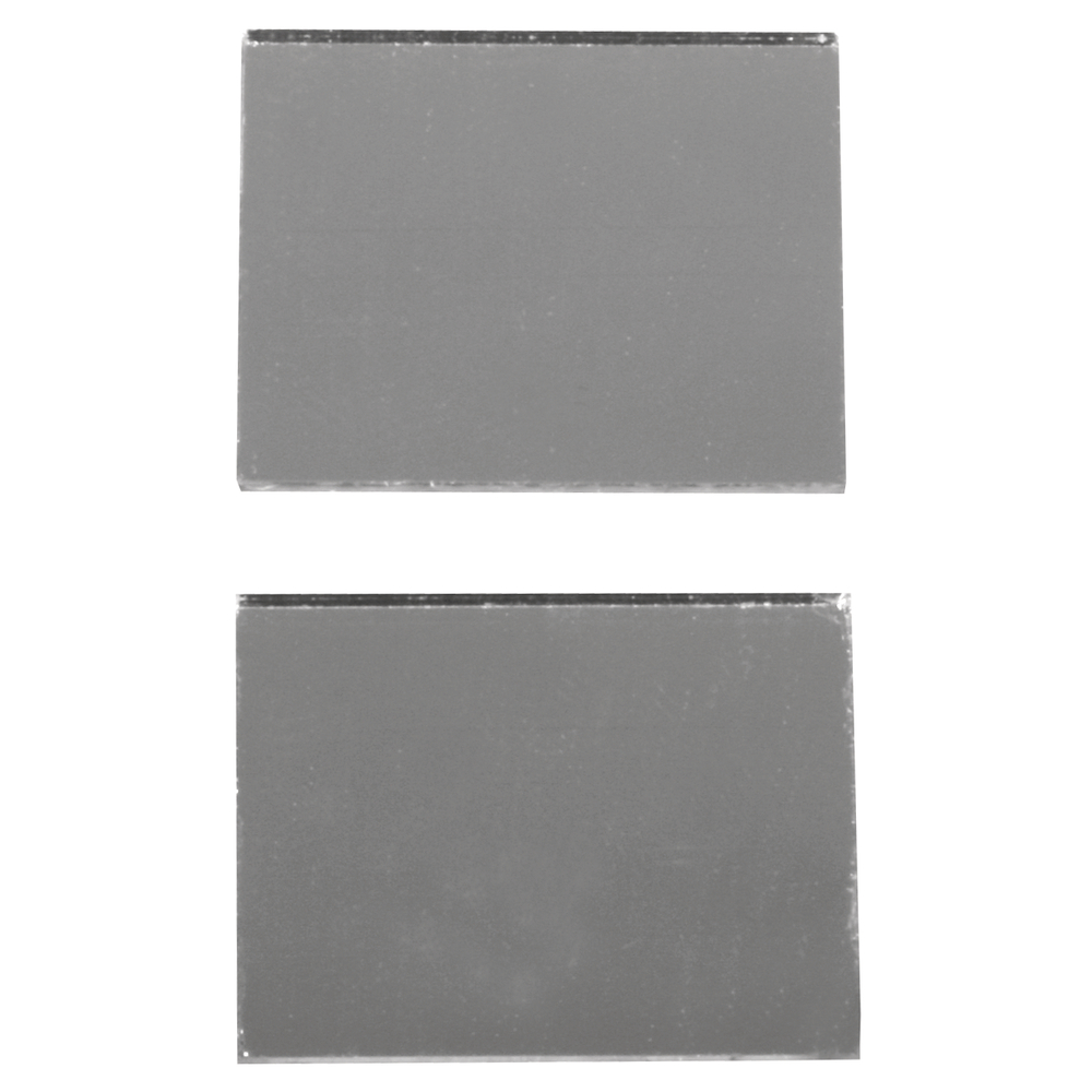 Spiegelmosaik, selbstklebend., 2x1,5cm, SB-Btl 50Stück, silber
