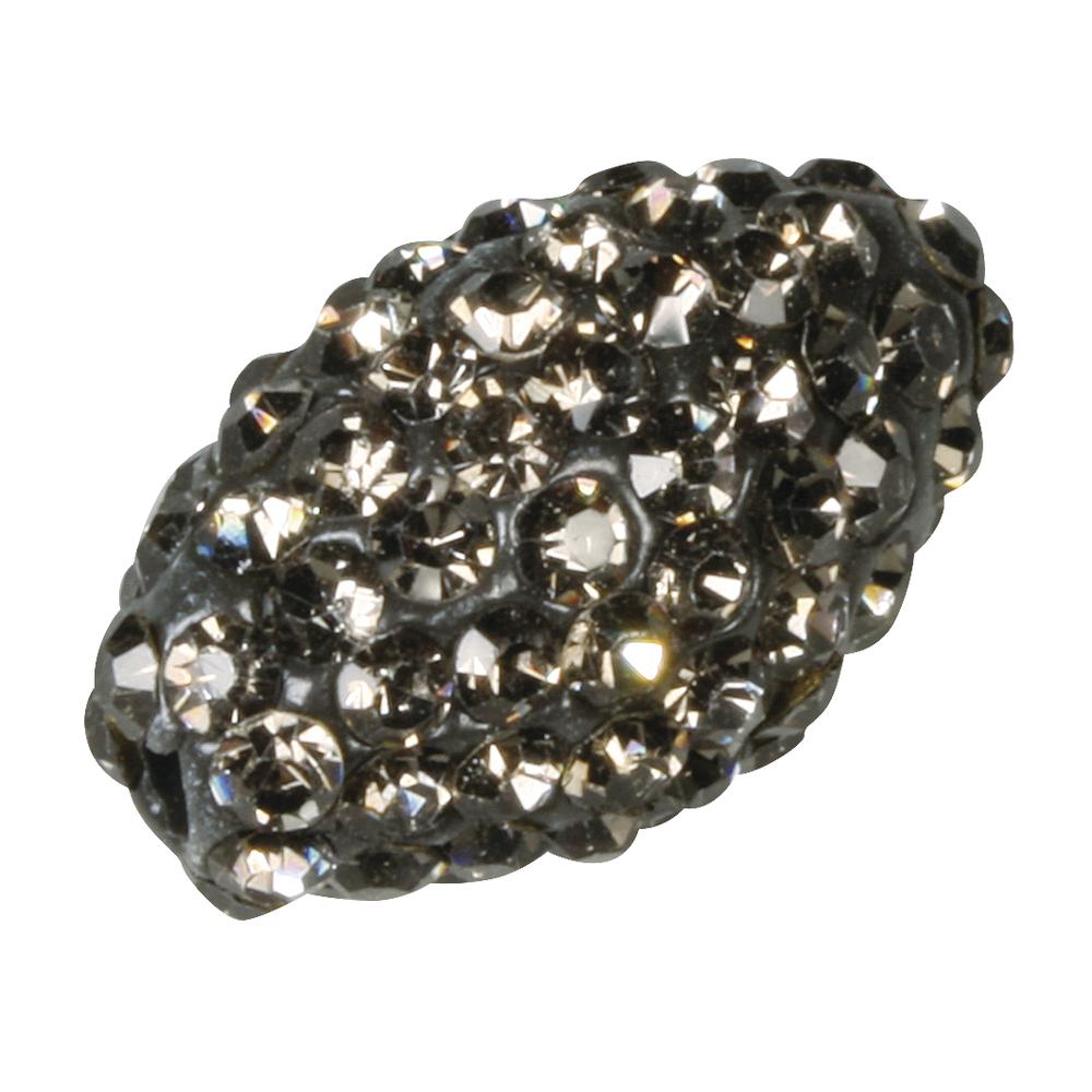 Shamballa-Bead oval, 1,6x1,1cm, Beutel 1Stück