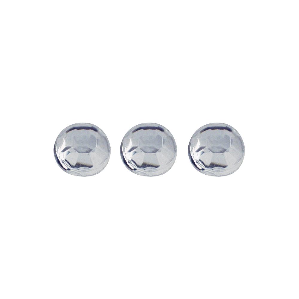 Plastik-Strasssteine, 3 mm ø, SB-Btl. 96 Stück, bergkristall