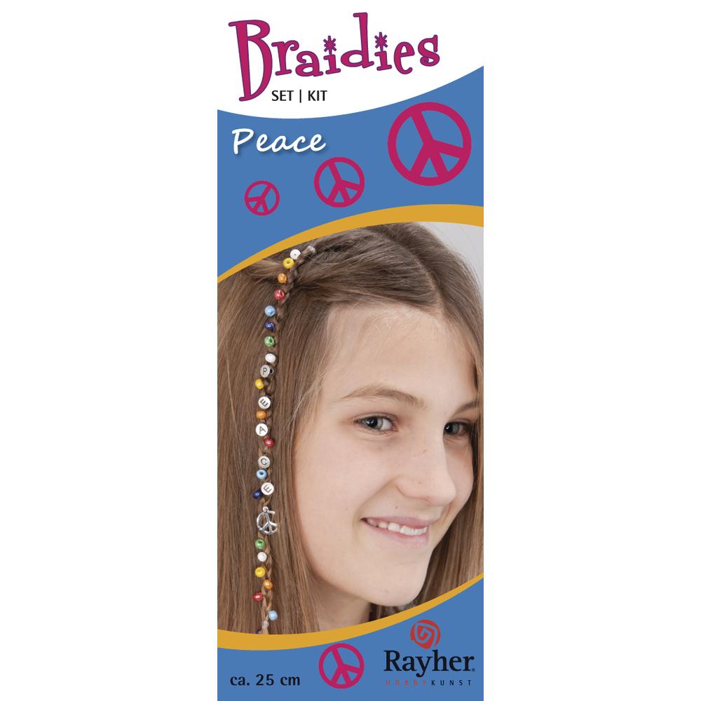 Braidy Haarschmuck-Set Peace, Set 33 Teile, Länge ca. 25 cm