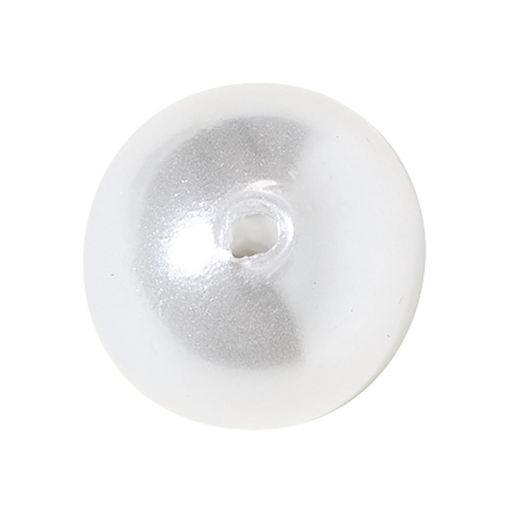 Wachsperlen, 14 mm ø weiß, SB-Btl. 6 Stück