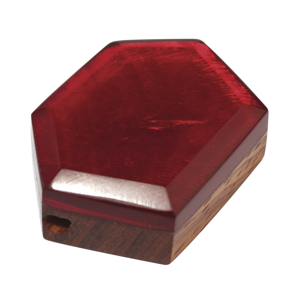 Perlmutt-Holzelement, 6 eck, 3,5 cm ø