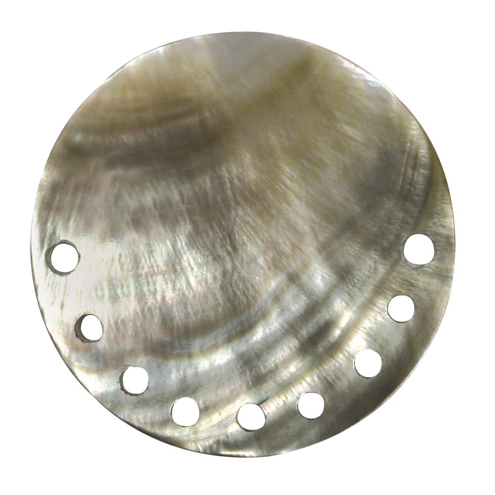 Perlmutt-Schmuckelement Scheibe m.Löcher, 40 mm, lose, perlmutt