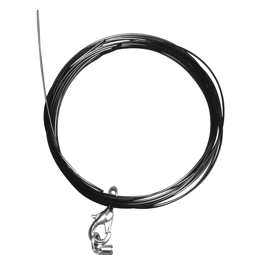 Nylon Perlenaufreih-Collier, 0,5mm ø, 48cm, SB-Btl 1Stück