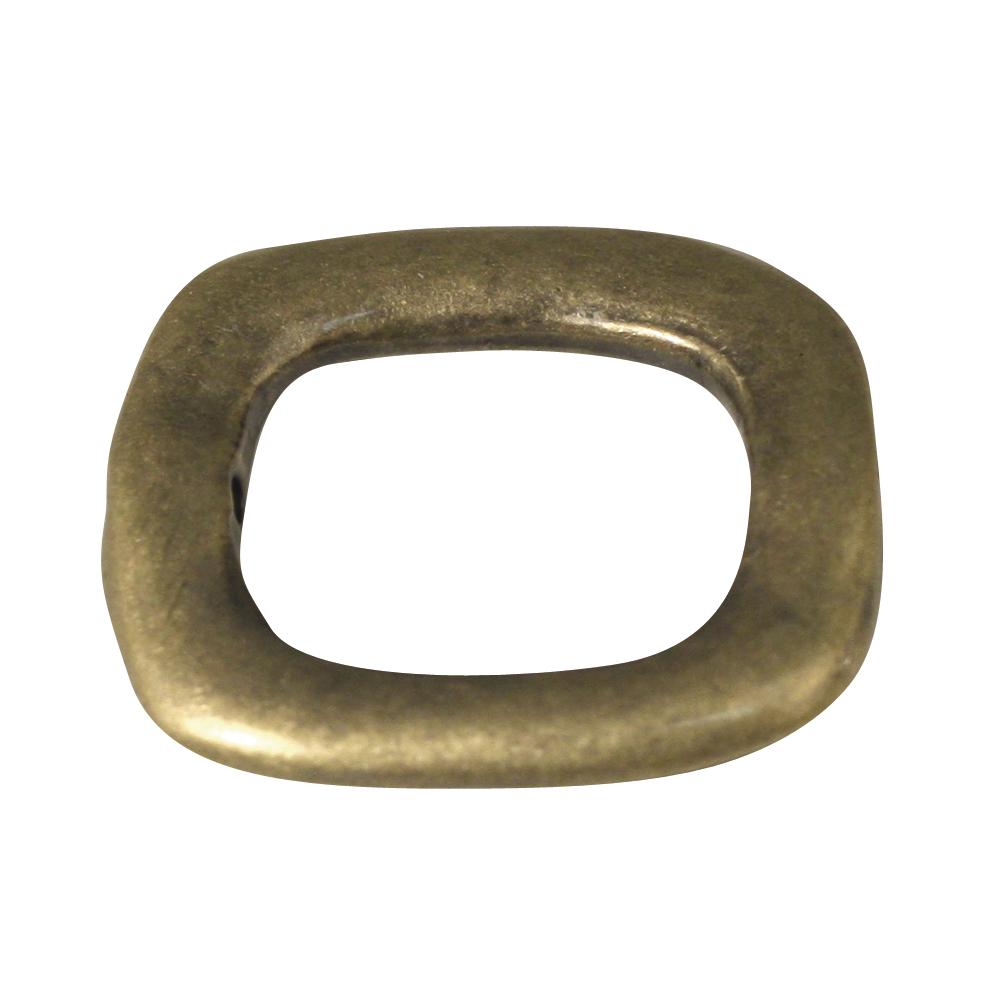 Metallschmuckelement, Rechteck, 20x23 mm, lose, gold matt