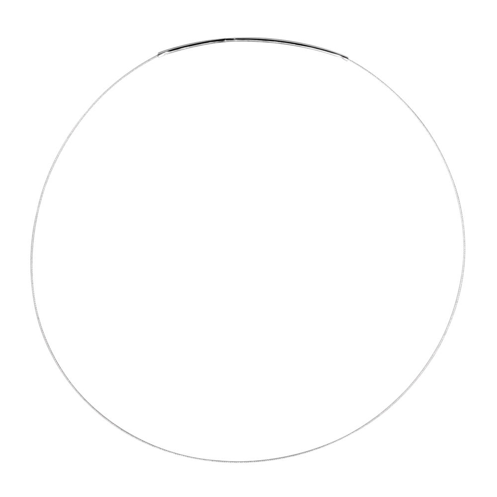 Edelstahl-Collier m. Rohrsteckverschluß, 420x0,54mm, SB-Btl 1Stück, platin