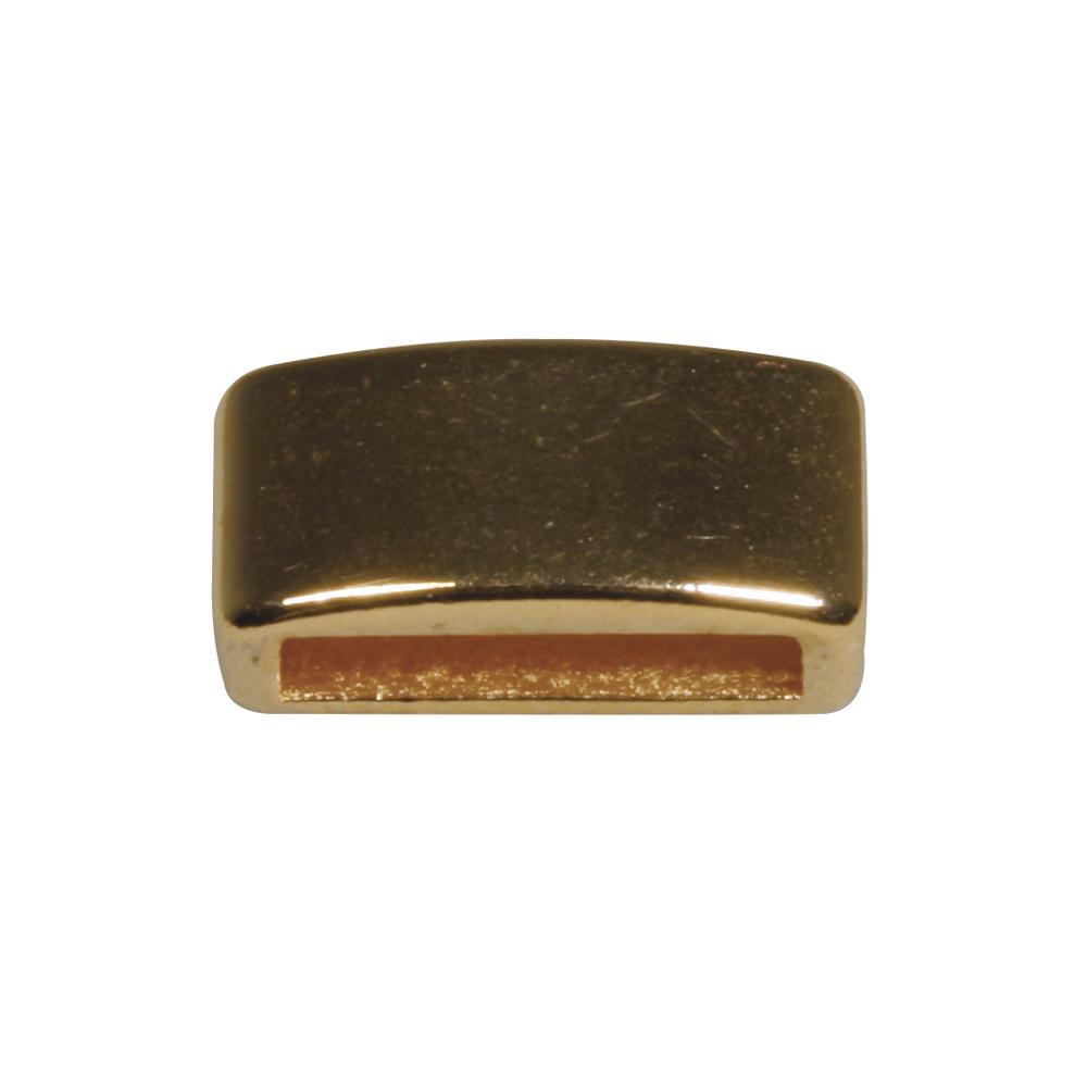 Metall- Zierelement eckig, 0,6x1,2cm, Loch 1cm breit