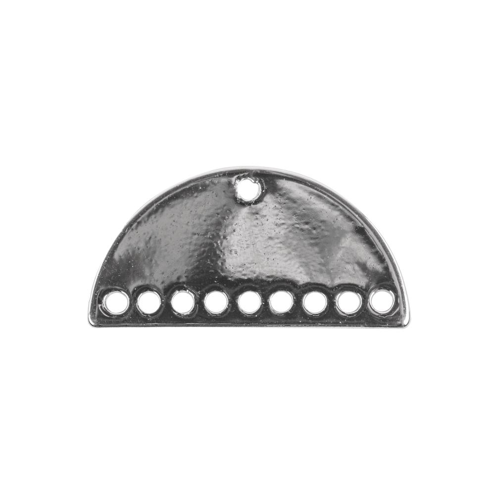 Metall-Anhänger Mehrloch (9-Loch), 22x10mm, SB-Btl 2Stück