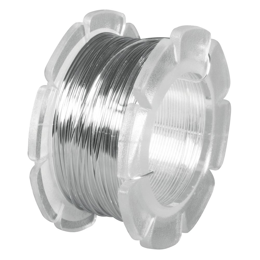 Schmuckdraht, 0,5 mm ø, SB-Btl. Rolle 8 m, silber