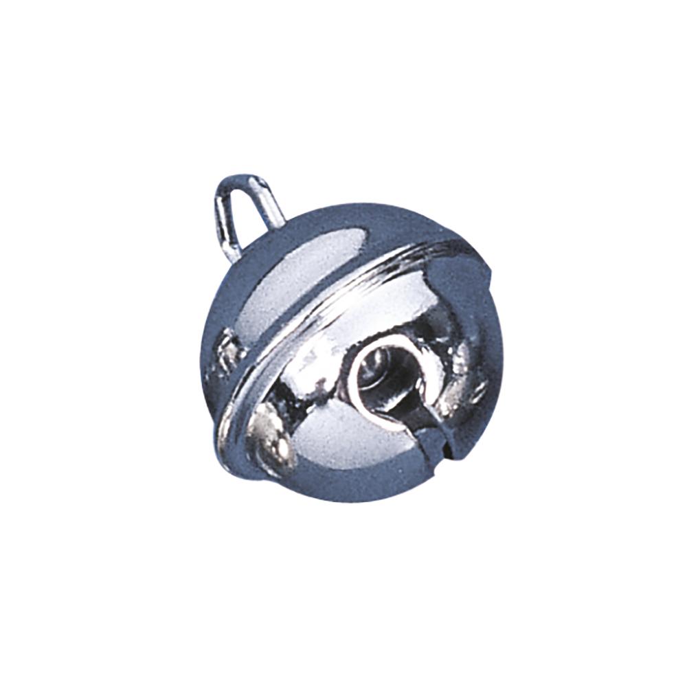 Deko-Metallglöckchen kugelförmig, 19mm ø, SB-Btl 10Stück