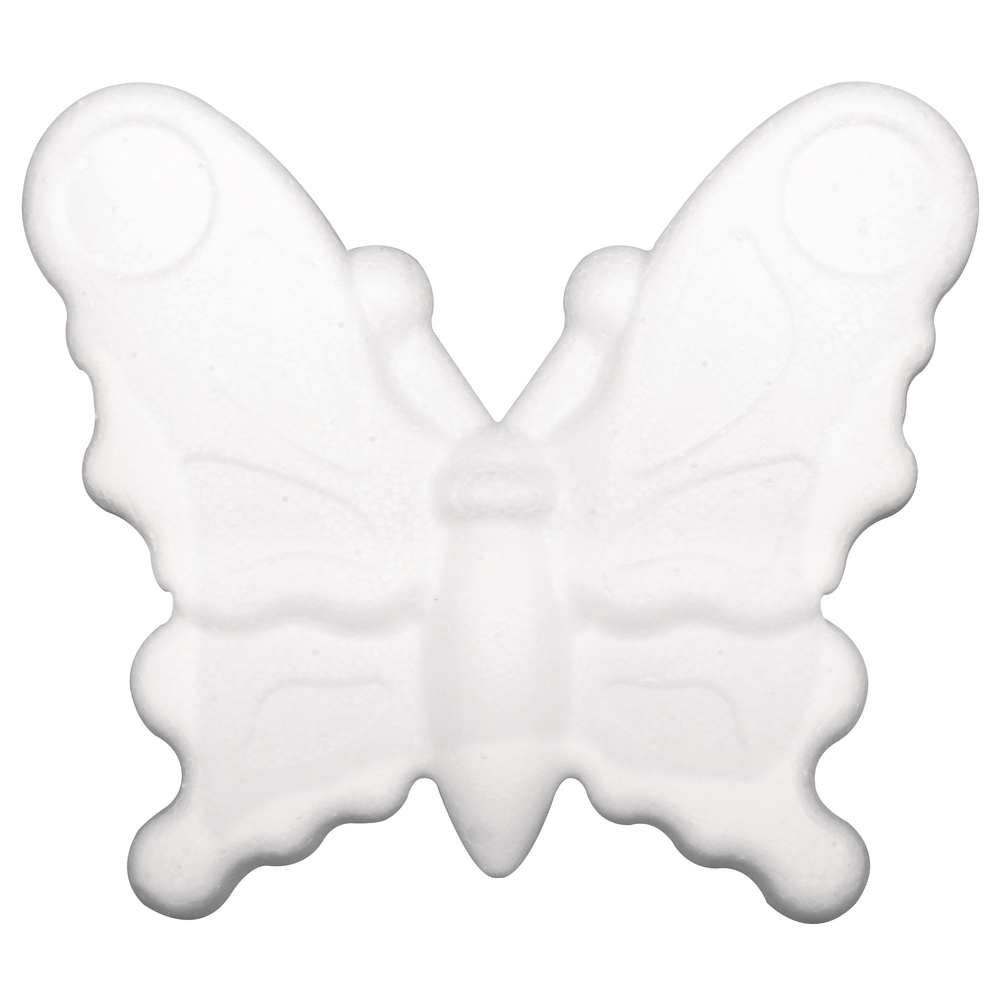 Styropor Schmetterling, 12,5cm, flach