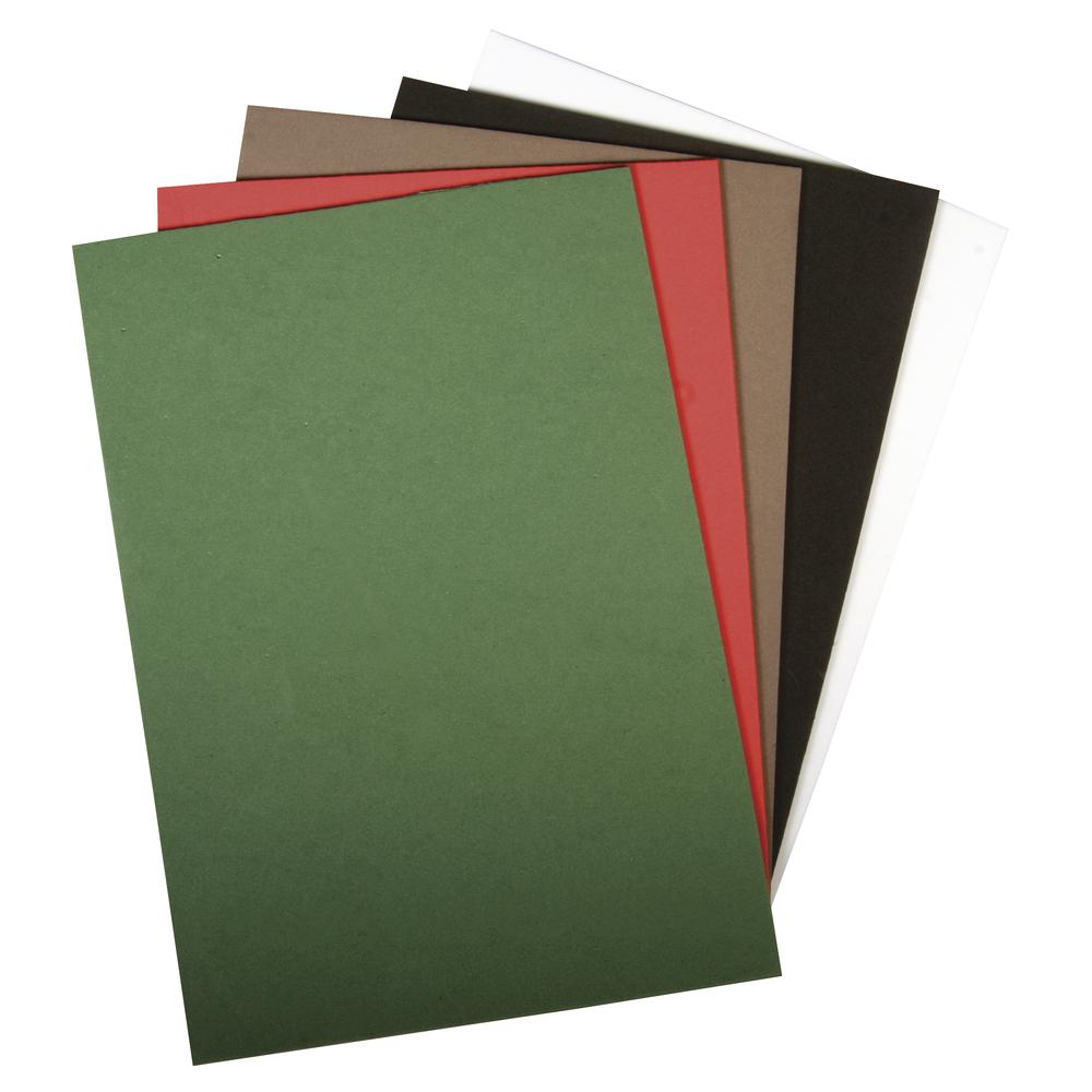 Moosgummi Platte, 20x30x0,2cm, 5 Farben, Beutel 5Stück, bunt