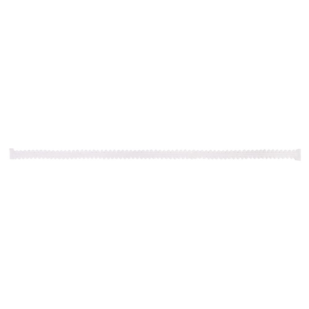 Wachs-Zierstreifen Spitze, 23,5x0,8cm, SB-Btl 1Stück, weiß