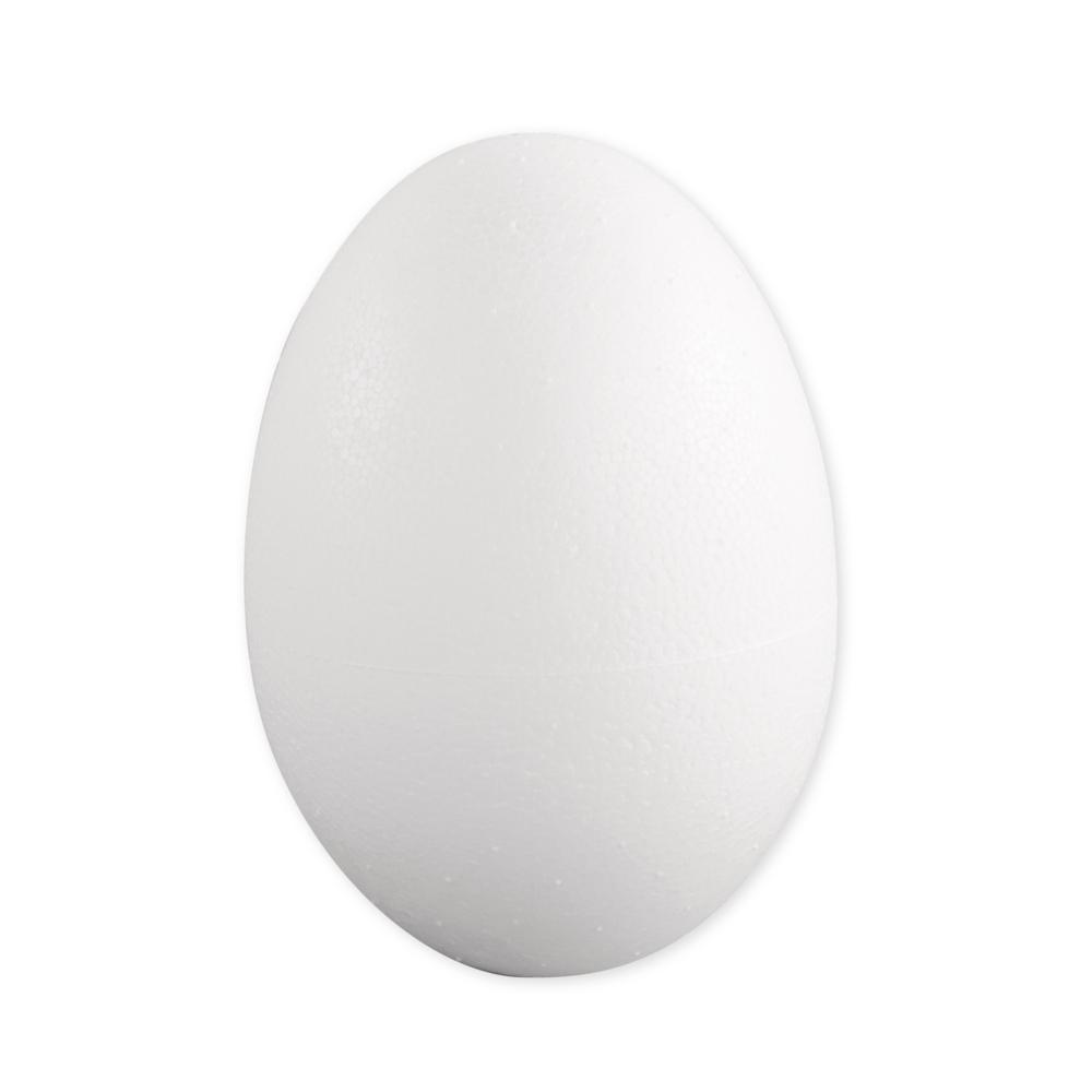 Styropor-Ei, voll, Höhe 12 cm
