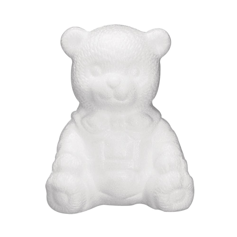 Styropor-Bär, sitzend, 16 cm