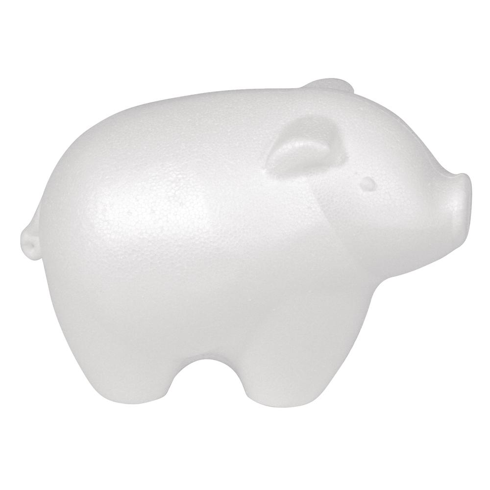 Styropor-Schwein, 15x11 cm
