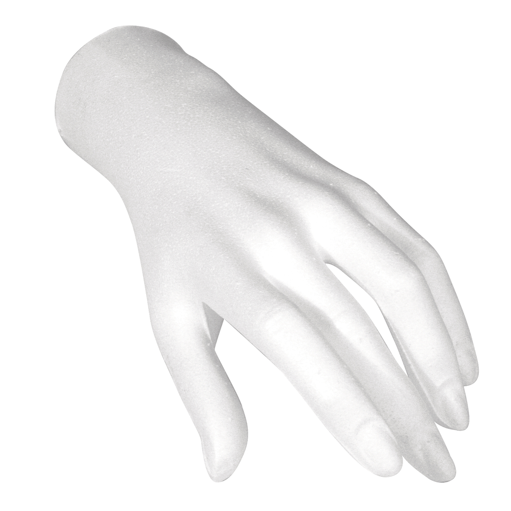 Styropor-Hand, weiblich, 21 cm