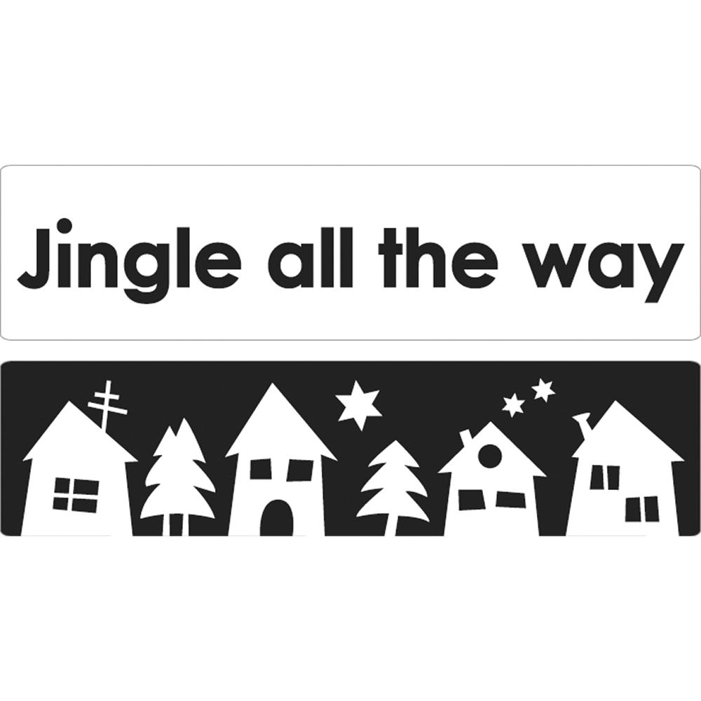 Labels Jingle all... + Weihnachtsdorf, 60x15mm, SB-Btl 2Stück