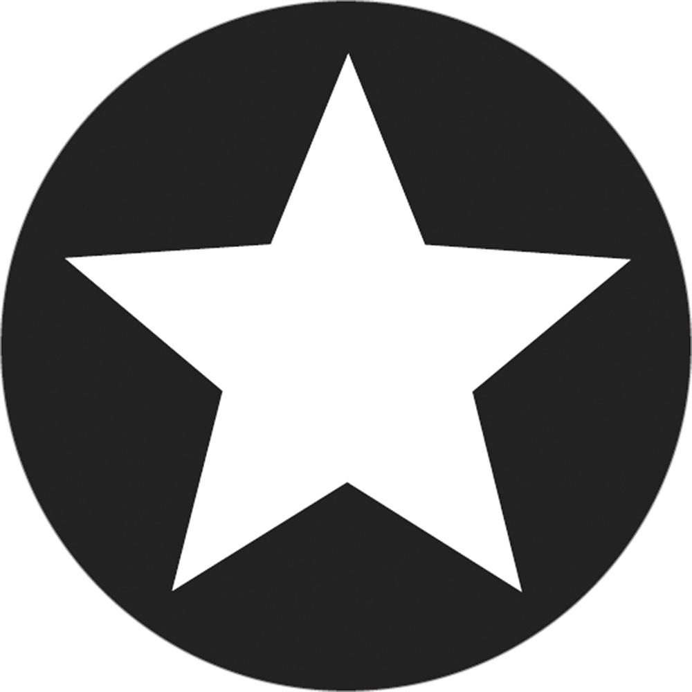 Label Stern, 45mm ø, SB-Btl 1Stück