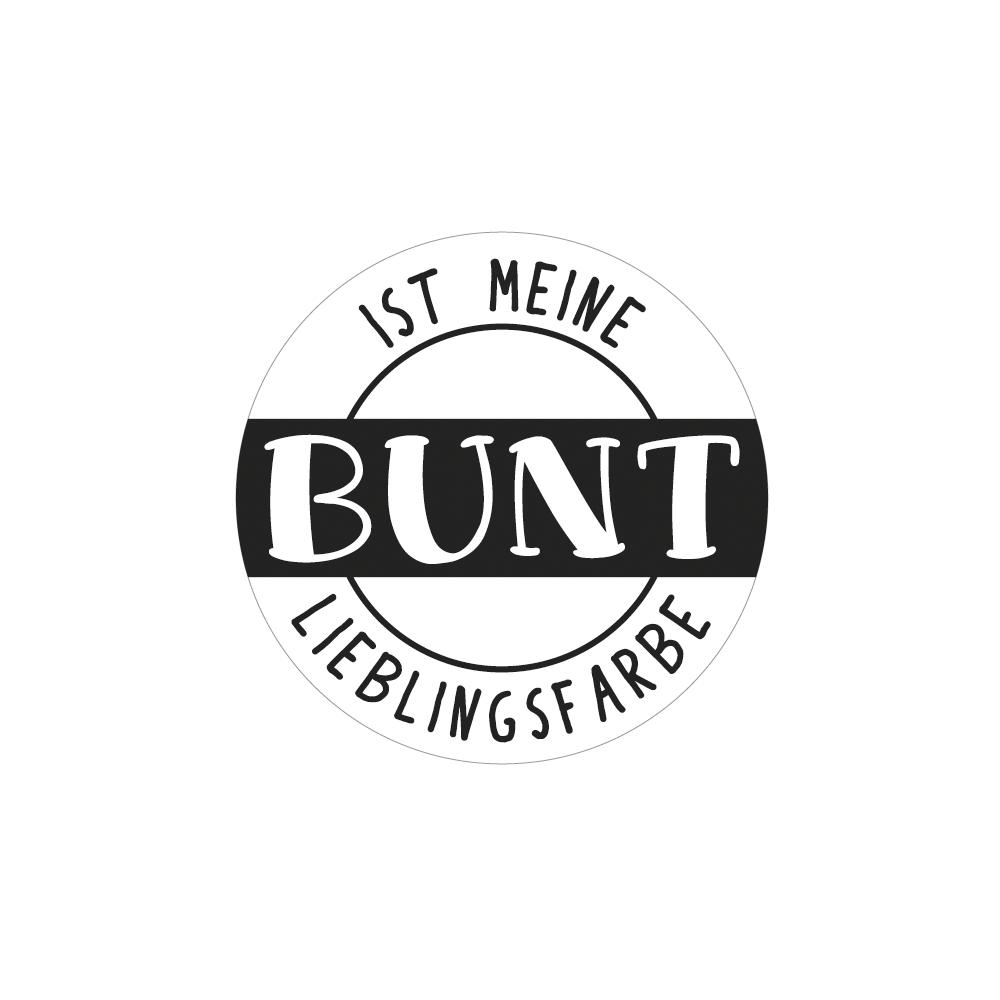 Label BUNT ist meine..., 4,5cm ø, SB-Btl 1Stück