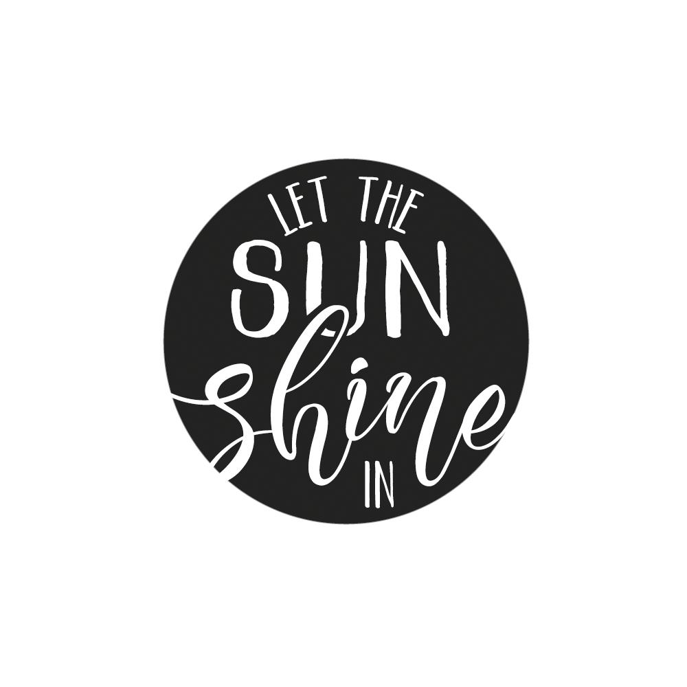 Label SUN shine, 4,5cm ø, SB-Btl 1Stück