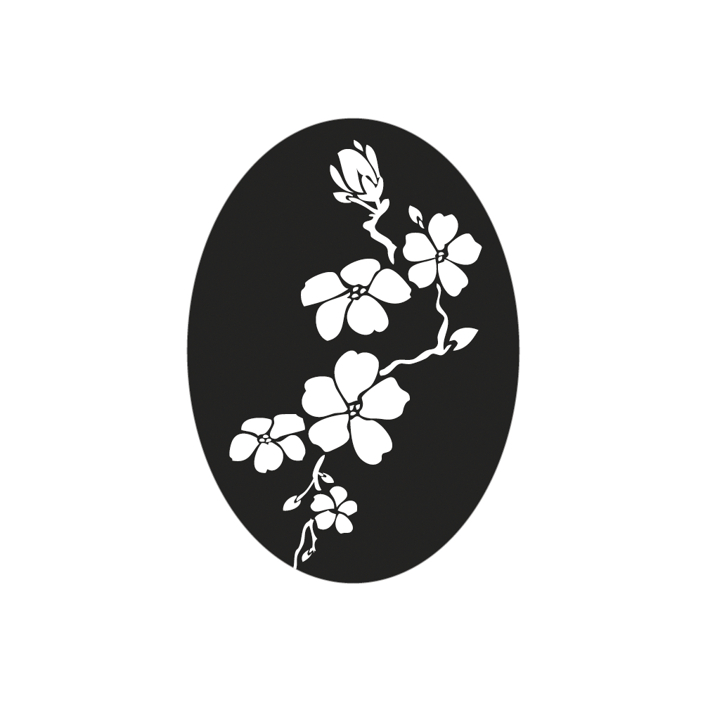 Label Kirschblüte, 4x5,5cm, SB-Btl 1Stück