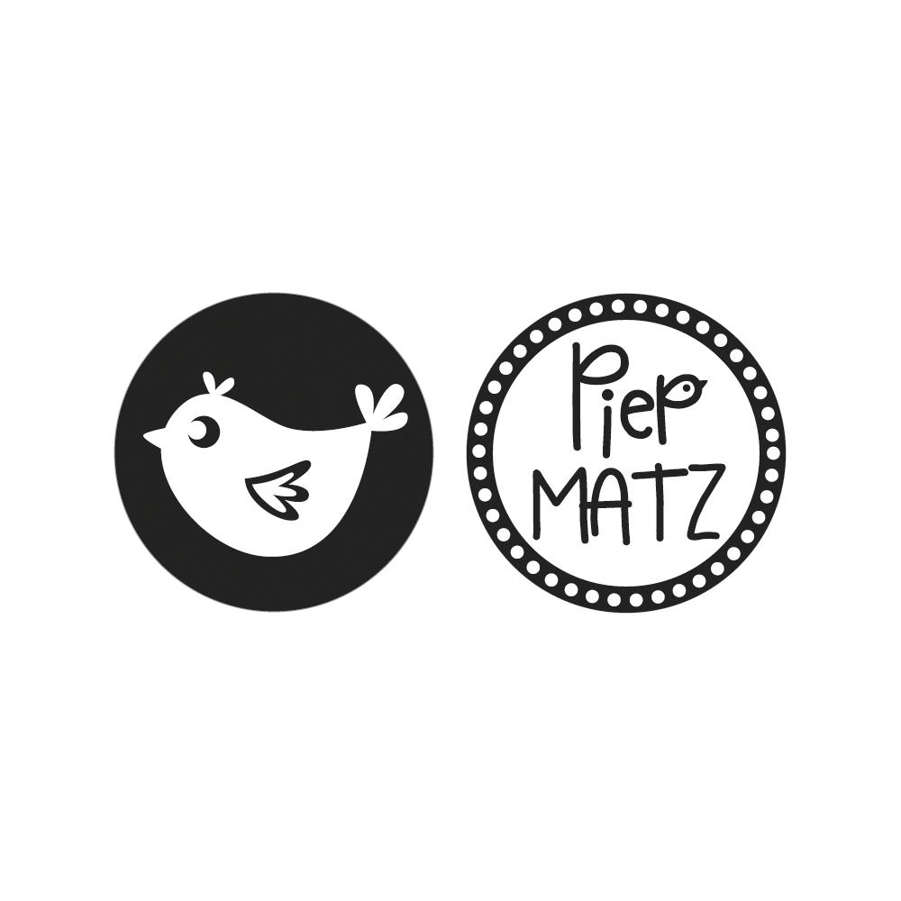 Labels Spatz,PiepMATZ, 3cm ø, SB-Btl 2Stück