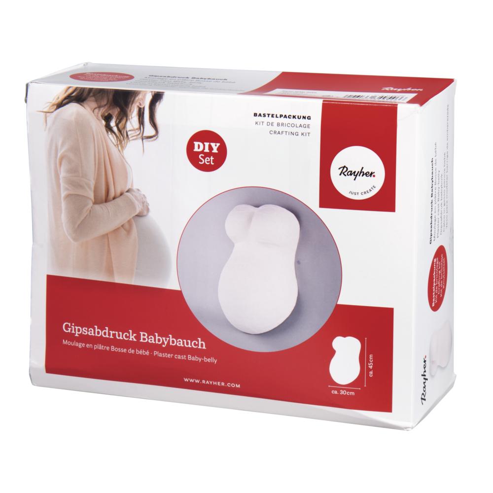 Bastelpackung: Gipsabdruck Babybauch, Box 1Set