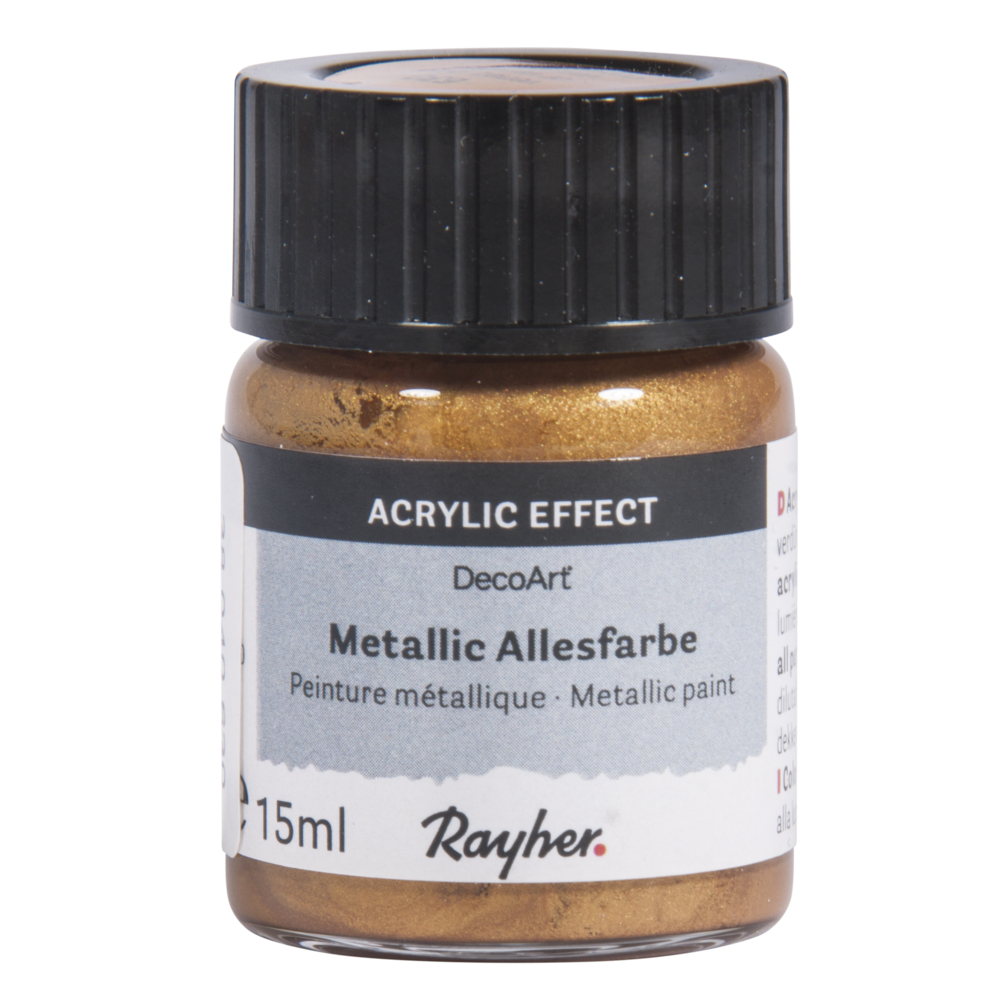 Metallicfarbe, Glas 15 ml