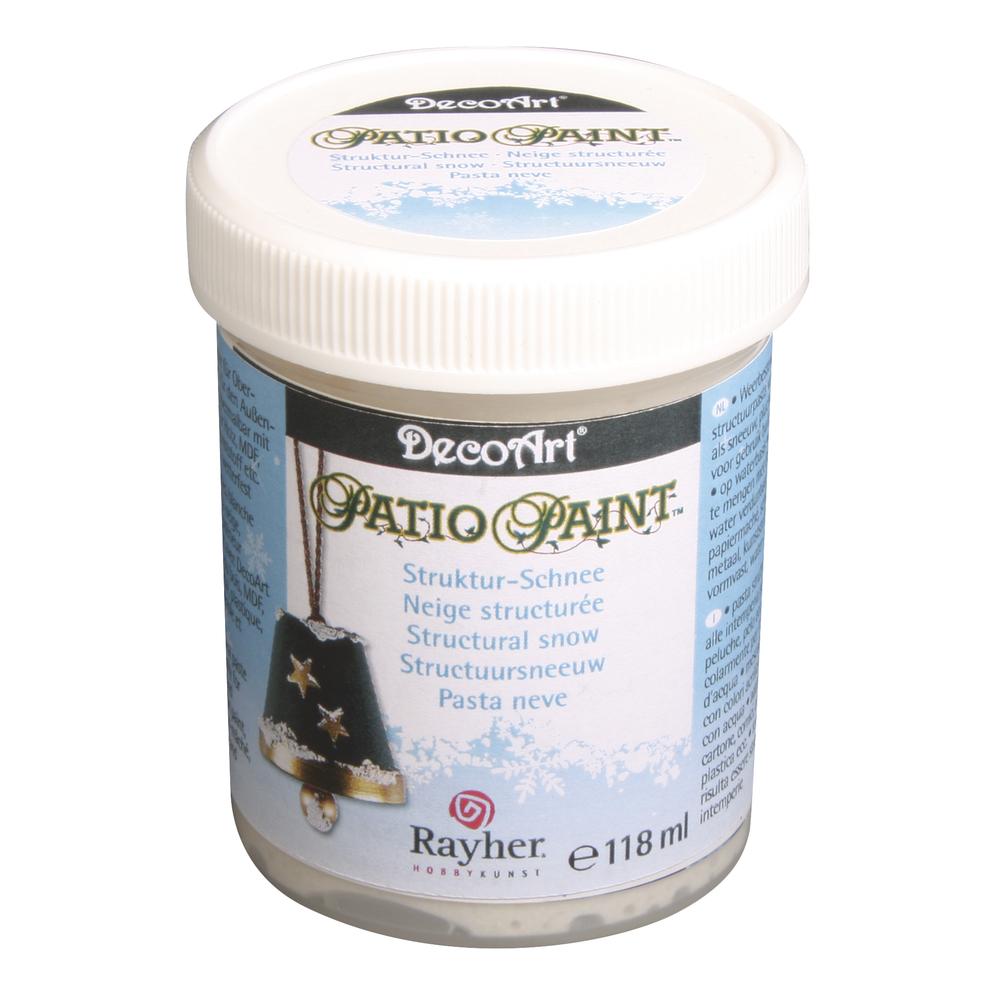Patio Paint Strukturschnee, für den Außenbereich, Dose 118 ml