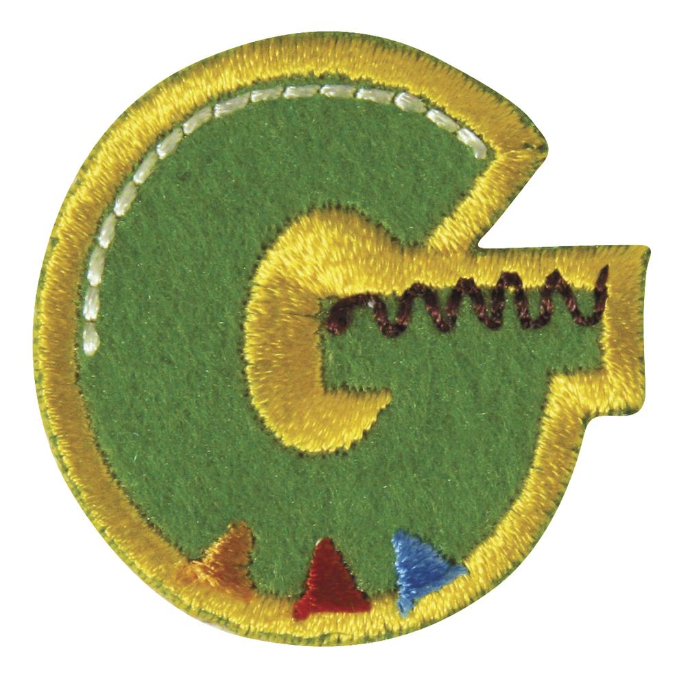 Stoff-Aufbügelbuchstabe, 3cm, ''G''