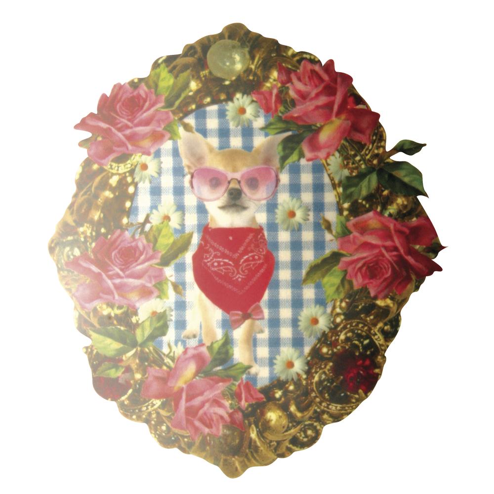 Bügeltransfer Tiny Roses, 12x8,5cm, SB-Btl 1Stück