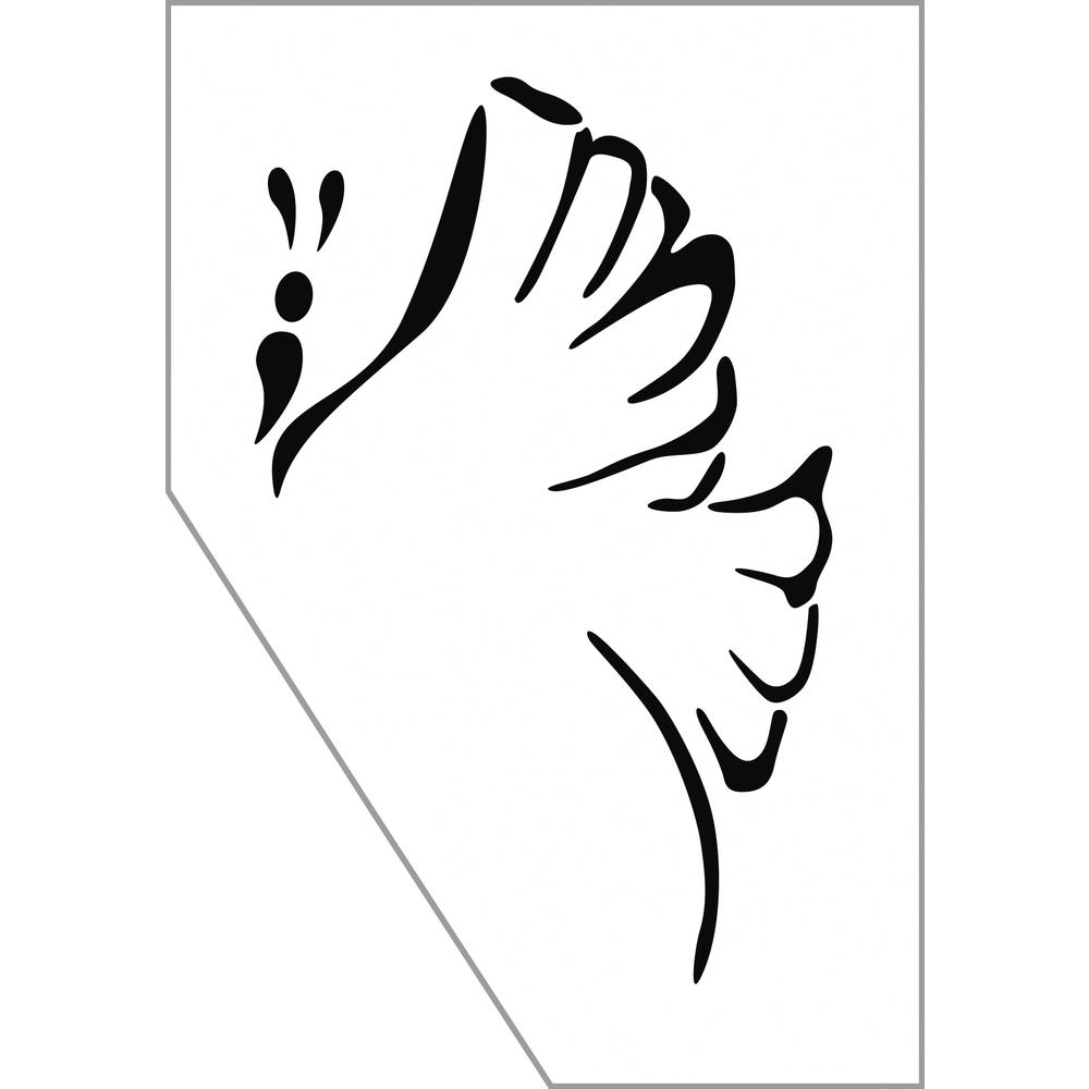 Paint-Me Schablone Schmetterling, 11,5x16,5cm, SB-Btl 1Stück