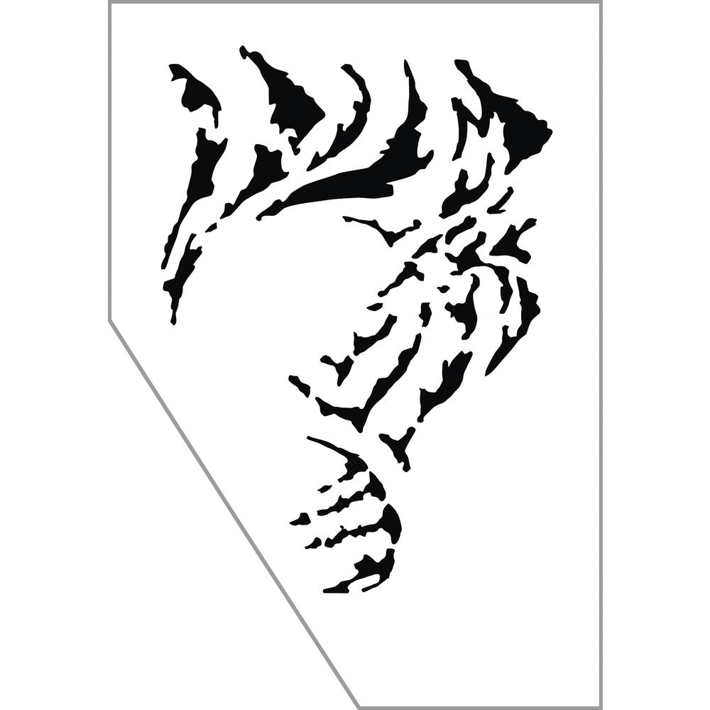 Paint-Me Schablone Tiger, 11,5x16,5cm, SB-Btl 1Stück