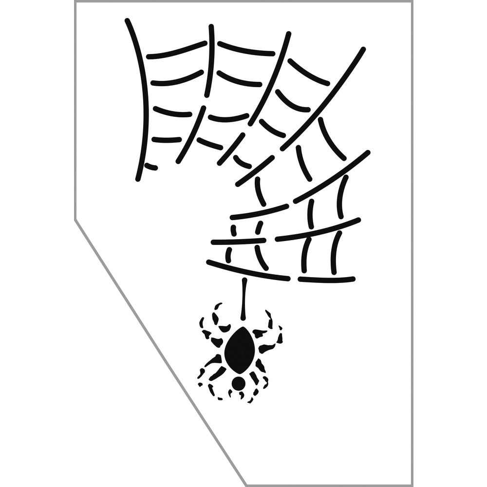 Paint-Me Schablone Spinne, 11,5x16,5cm, SB-Btl 1Stück