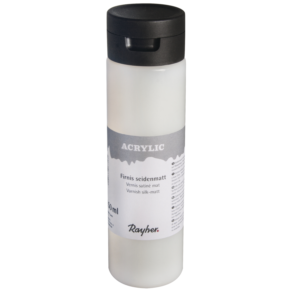 Acrylfirnis seidenmatt, Flasche 250ml