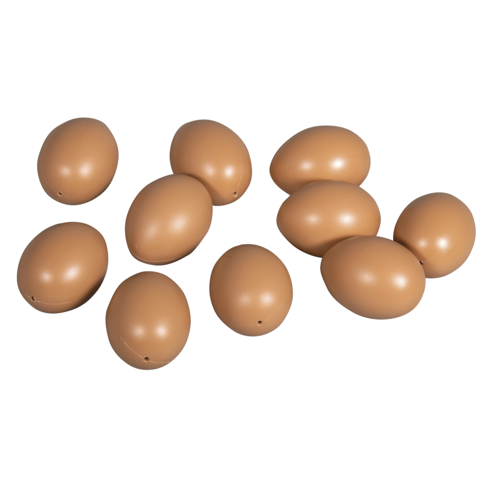 Plastik-Eier, 6cm ø, SB-Btl 10Stück