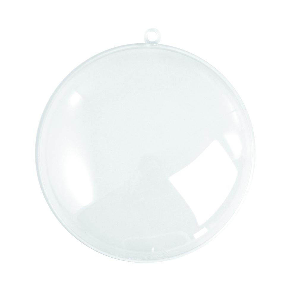 Plastik-Medaillon, 2tlg., kristall, 9 cm