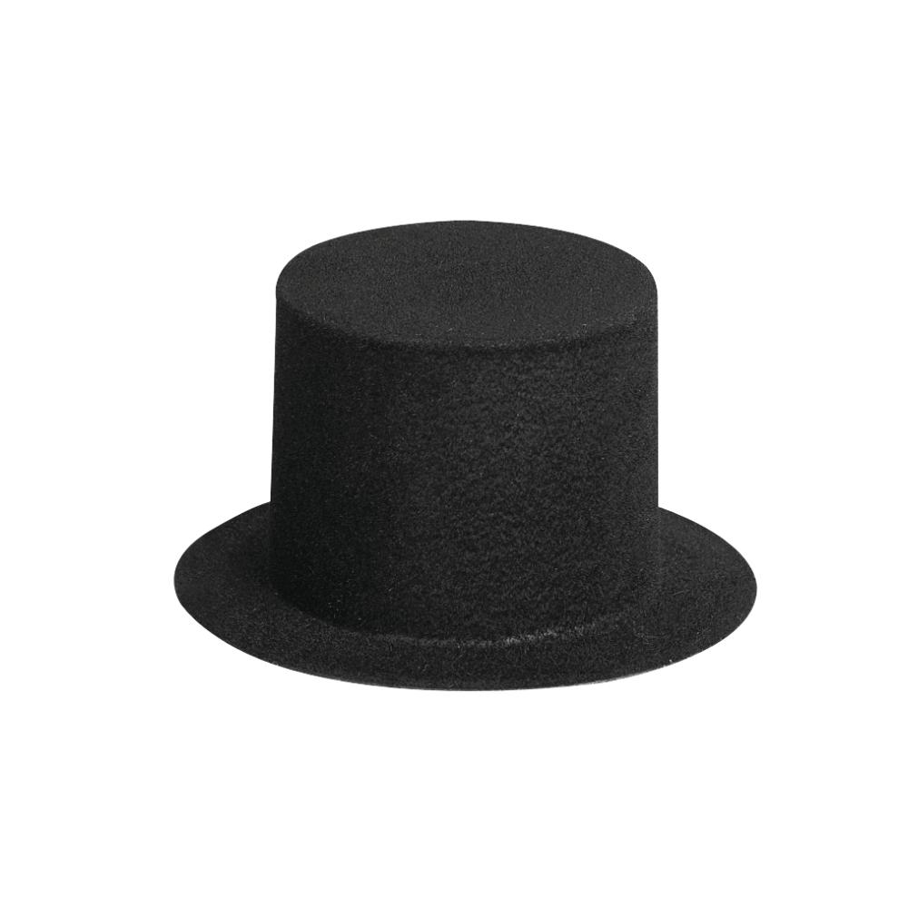 Velour-Zylinder, schwarz, 73 mm