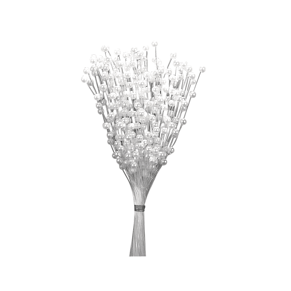 Perlenspray, 72fach, 11cm, SB-Btl 1Stück, weiß