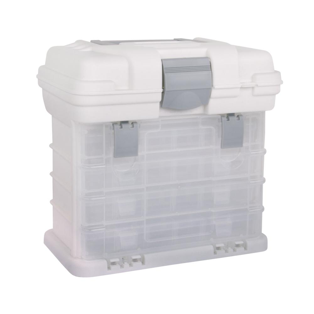 Tragebox mit 4 Sortimentskästen, 27,5x17,5x26cm, +1 Deckelfach