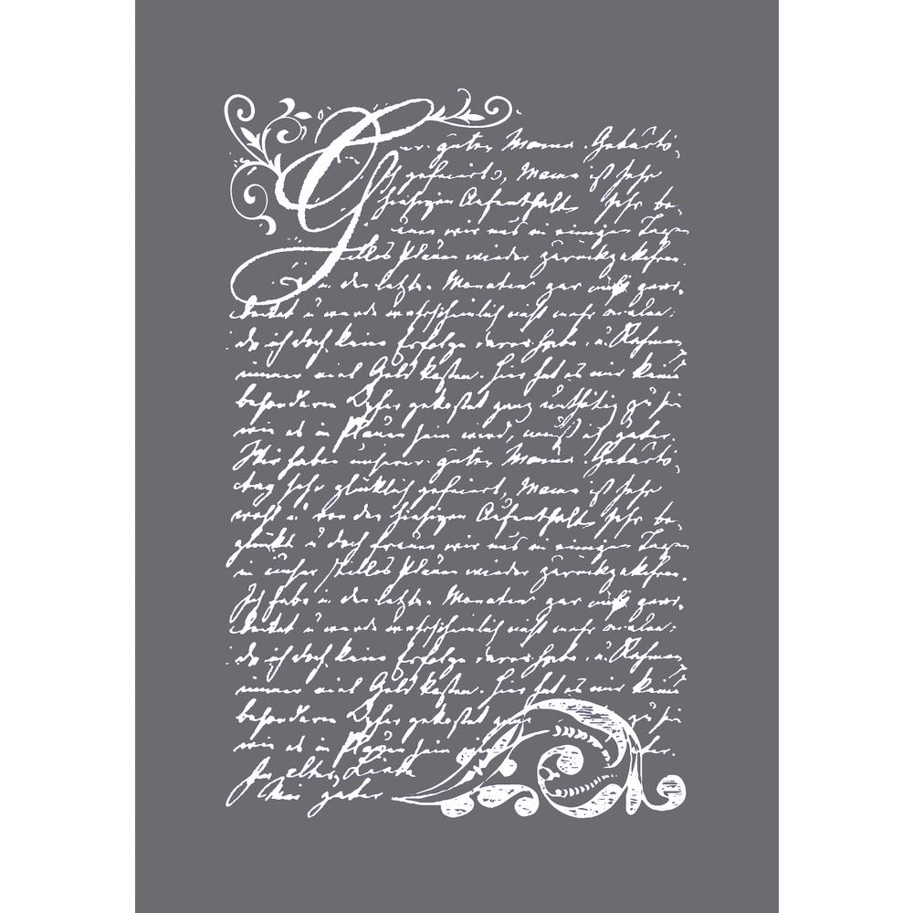Siebdruck-Schablone Vintage Poesie, DIN A5, 1 Schabl.+1 Rakel im SB-Btl.