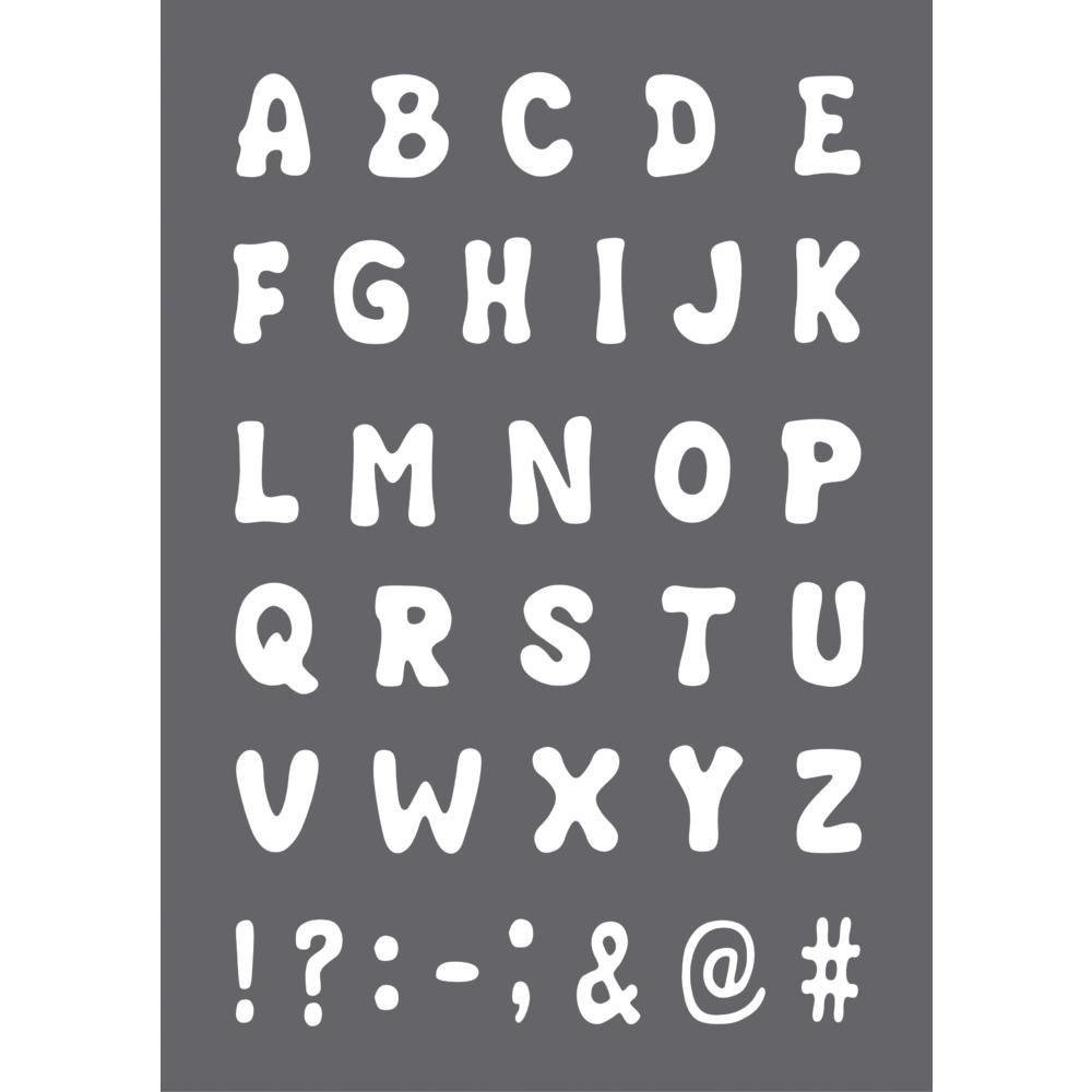 Schablone ABC A4, 1 Schablone+1 Rakel, SB-Btl