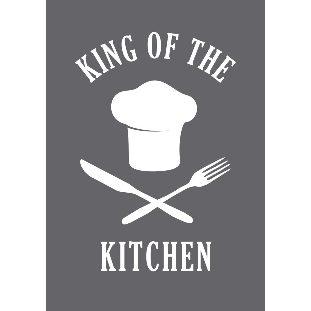 Schablone King of the kitchen A5, 1 Schablone+1 Rakel, SB-Btl