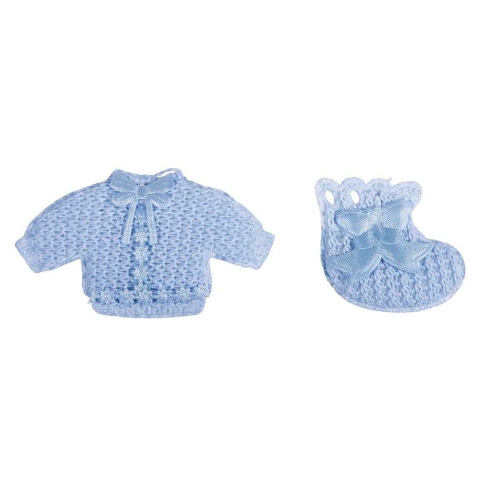 Babyaccessoires Hemdchen + Söckchen, mit Klebepunkt, sortiert, SB-Btl 6Stück